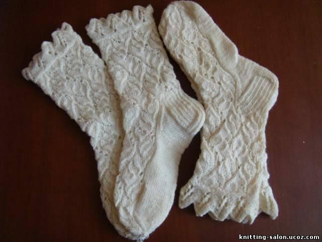 Схема вязания носок спицами.