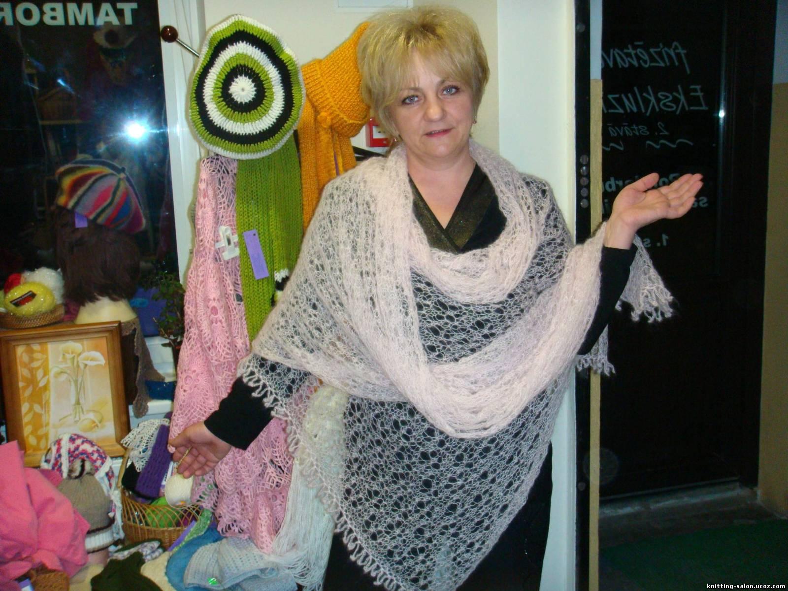 Вязание шарфа из мохера 8